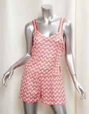MISSONI MARE Womens Casual Coral Rayon Knit Sleeveless Short Romper 44/8 NEW
