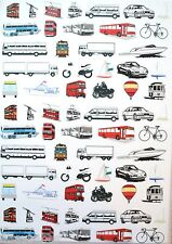2 x A4 Transport Patterned Vellum 120gsm NEW