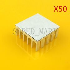 50PCS Heat Sink with Thermal Adhesive for Computer CPU Memory Chip IC 22*22*10mm