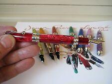 Jean-Pierre Lepine Indigo IN47FS red marble fountain pen MIB
