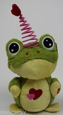 """Valentine's Animated Friend Stuffed Frog Dances & Sings to """"Higher"""" NWT"""