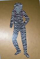 Women's PJ Couture Microfleece Zebra Jumper Pajama Sleepwear Sizes M, XL