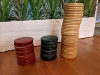 Lot of 71 Vintage Bakelite Catalin Poker Chips 3 Colors