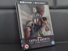 Captain America Steelbook [Blu-ray 4K + 2D] Zavvi -- Deutscher Ton -- Neu & OVP