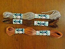 lot de 3 échevettes de fils à broder 3 marrons différents (2)