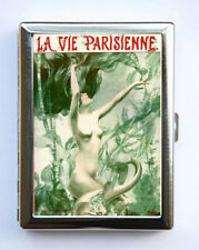 Cigarette Case id case Wallet La Vie Parisienne Mermaid Art Deco