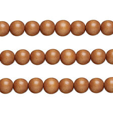 Wood Round Beads Light Brown 6mm 16 Inch Strand