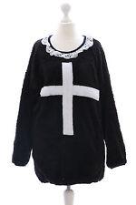 TS-07 Kreuz Lolita Goth schwarz Pullover Sweatshirt flauschig Harajuku Japan