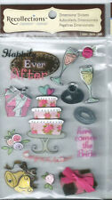 White Dimensional Scrapbooking Stickers