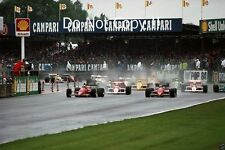 Berger & Alboreto & Senna & Prost British Grand Prix Start 1988 Photograph