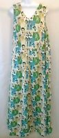 Handmade Sleeveless 100% Cotton Maxi Elvis Presley Dress Womens Plus Size 18/20