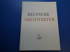 DDR Zeitschrift-Architektur der DDR Heft 1/1956-UDSSR-Landwirtschaft-Wohnbauten
