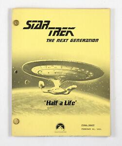 """STAR TREK: TNG ORIGINAL SCRIPT-  """"Half a Life,"""" Written by Roberts & Fields"""