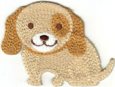 "Puppy Doig Crochet Sew On Applique (2 1/4"" x 2"") Animals Puppies Dogs"