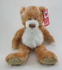 "zzb Caramel honey brown PLUSH TEDDY BEAR Cookie Ganz 10"" nwt"
