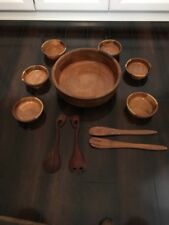 Vintage Looking Latin America Teak Salad Bowls Set