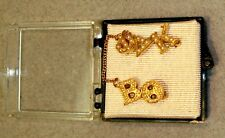 VINTAGE 10K & SEED PEARL PHI DELTA KAPPA FRATERNITY PIN WITH INITIALS BO