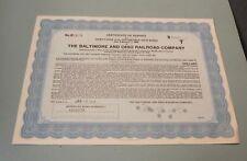 1939 B&O Baltimore & Ohio Railroad Company $5000 Gold Bond Certificate Deposit