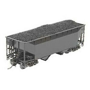 Kadee #7001 Undecorated 50 Ton AAR Standard Open Bay Hopper Black RTR HO Scale