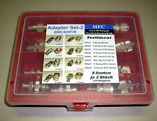 Adaptateur Assortiment (16 pièces) - set 2 BNC/uhf/N - 8 variétés par 2 pièces