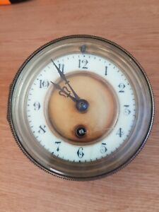 ANTIQUE FRENCH DRUM CLOCK MOVEMENT FOR SPARE PARTS 110mm Diam. For Aperture 100