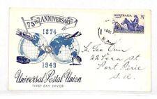 VV376 1949 Australia Universal Postal Union Anniversary Cover PTS