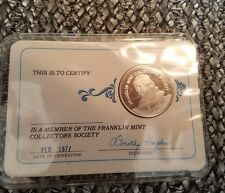 1977 Franklin Mint Collectors Society Silver Member Coin