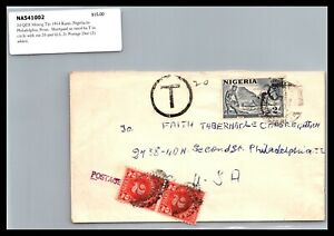 GP GOLDPATH: NIGERIA COVER 1954 POSTAGE DUE _CV731_P09