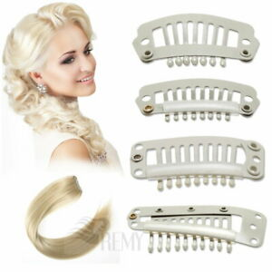 Tressenclips Toupetclips 10-100 Tressen Clips Blond Clip in Extensions