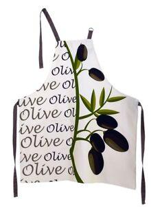 Schürze,Grillschürze,groß,Schurz,Oliven,Italien,Spanien,lustig,Baumwolle,Küche