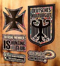 5er set StickerBomb bien cultural/Quickie/cruz is rythm Pegatina Sticker