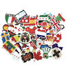 52pcs National Flags Stickers Countries Map Travel Sticker DIY Suitcase Luggage