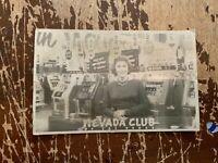 1961 Nevada Club Las Vegas Real Photo Postcard Casino Slots C
