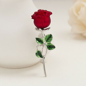 Fashion Women Red Rose Flower Brooch Pin Breastpin Charm Lady Jewelry Gifts New