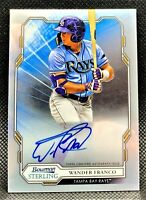 WANDER FRANCO (2019 Bowman Sterling) MLB Rookie Auto TB RAYS #1 Prospect