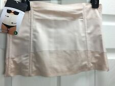 NWT Under Where? Brand Sz L Beige Power Mesh Waist Cincher Corset Body Shapewear