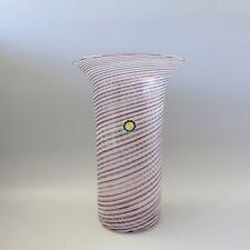 Glas Vase Italien wohl Murano Fadendekor Hand Made in Italy H. 31,5cm (D)
