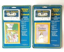 2 Bible Play-Along Cassettes Esther-Queen / Deborah-Judge, Rainfall - 1986 1987