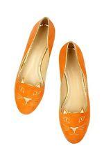 Charlotte Olympia's Veuve Clicquot Collection Capri Cats Orange Velvet flats. 8