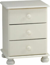 Steens Richmond White 3 Drawer Bedside Nightstand Bedroom Chest