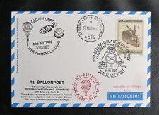 BALLON POSTFLUG : 42. BALLONPOSTFLUG - NEUKIRCHEN BEI ALTMÜNSTER - 30 10 1969