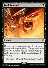 MTG 2x FOUL RENEWAL - RINNOVAMENTO RIPUGNANTE - DTK - MAGIC