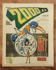 Vintage 2000 AD Prog #71 Banned Issue Judge Dredd Burger Wars No Mark