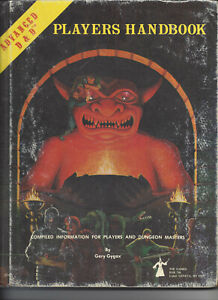 Dungeon & Dragons Players Handbook by Gary Gygax Dated 1978  1C