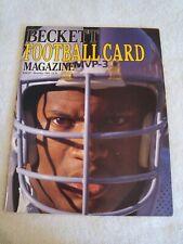 1st Football Beckett Price Guide Bo Jackson on Cover Dec. 1989 Marino on Back