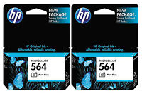 GENUINE NEW HP 564 (CB317WN) Photo Black Ink Cartridge 2-Pack