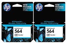GENUINE NEW HP 564 (CB317WN) Photo Black Ink Cartridge 2-Pack