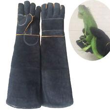 Pet Handling Gloves Dog Cat Training Anti-bite Protection Glove Tools Black MWT
