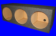 "3 THREE HOLE 15"" CHAMBERED GREY SUBWOOFER SUB SPEAKER ENCLOSURE BOX"