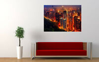 "CHINA HONG KONG NIGHT NEW GIANT LARGE ART PRINT POSTER PICTURE WALL 33.1""x23.4"""